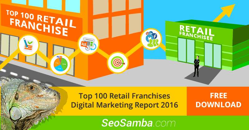 SeoSamba releases Top 100 Retail Franchises Digital Marketing Performance Report 2016
